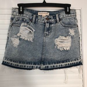 Nordstrom- Distressed Denim Jean Skirt